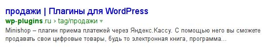 Простейший плагин SEO для WordPress